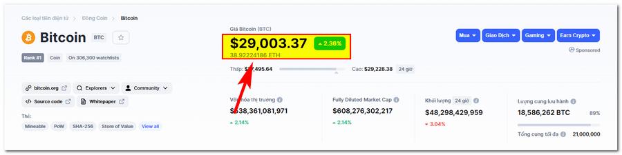 Giá Bitcoin (BTC) cuối năm 2020